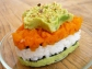 Nori Sheets with layered Carrot, Pistachio and Avocado