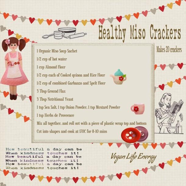 Healthy Miso Crackers (Vegan)