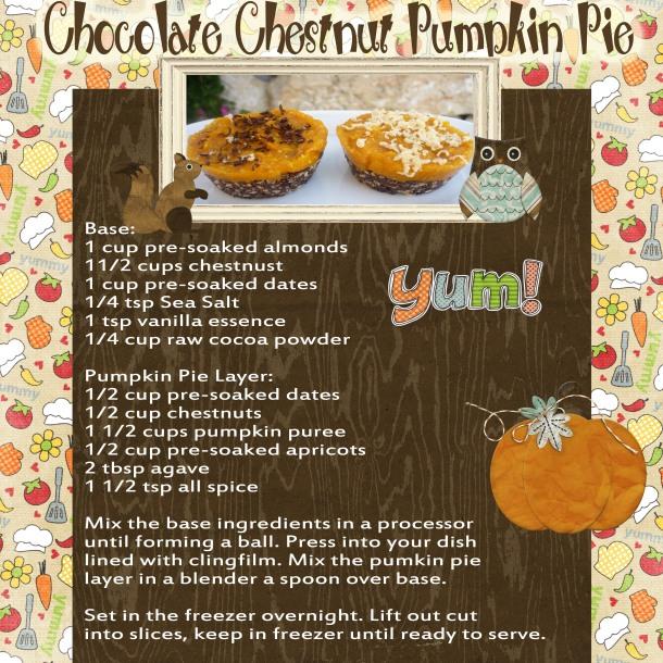 Raw Chocolate Chestnut Pumpkin Pie