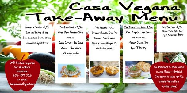 take-away menu w/c 7th Nov