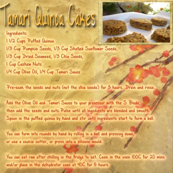 tamari quinoa cakes