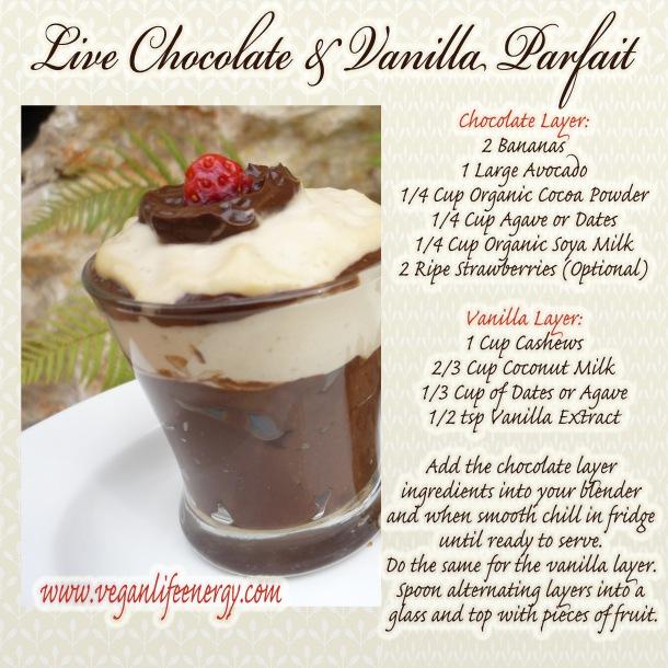 Live Chocolate and Vanilla Parfait V & GF
