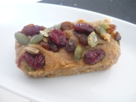Raw Apple and Cranberry Bars