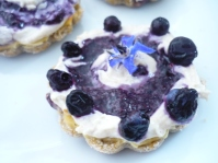 Blueberry & Borage Flower Cheesecake