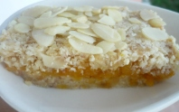 Raw Almond Tart with Apricot filling