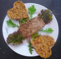 Eggplant Pate and Raw Flax Crackers