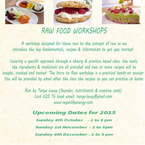 raw food class winter 15