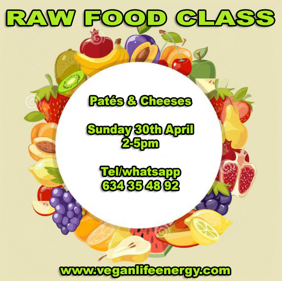 raw food class april 30 2017