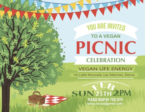 Cartoon Summer Picnic Invitation Template